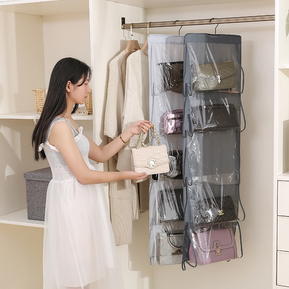 WomenS Bag Hanging Storage Organizer Dustproof Stereo Washable Wardrobe Oxford Cloth  Organizador
