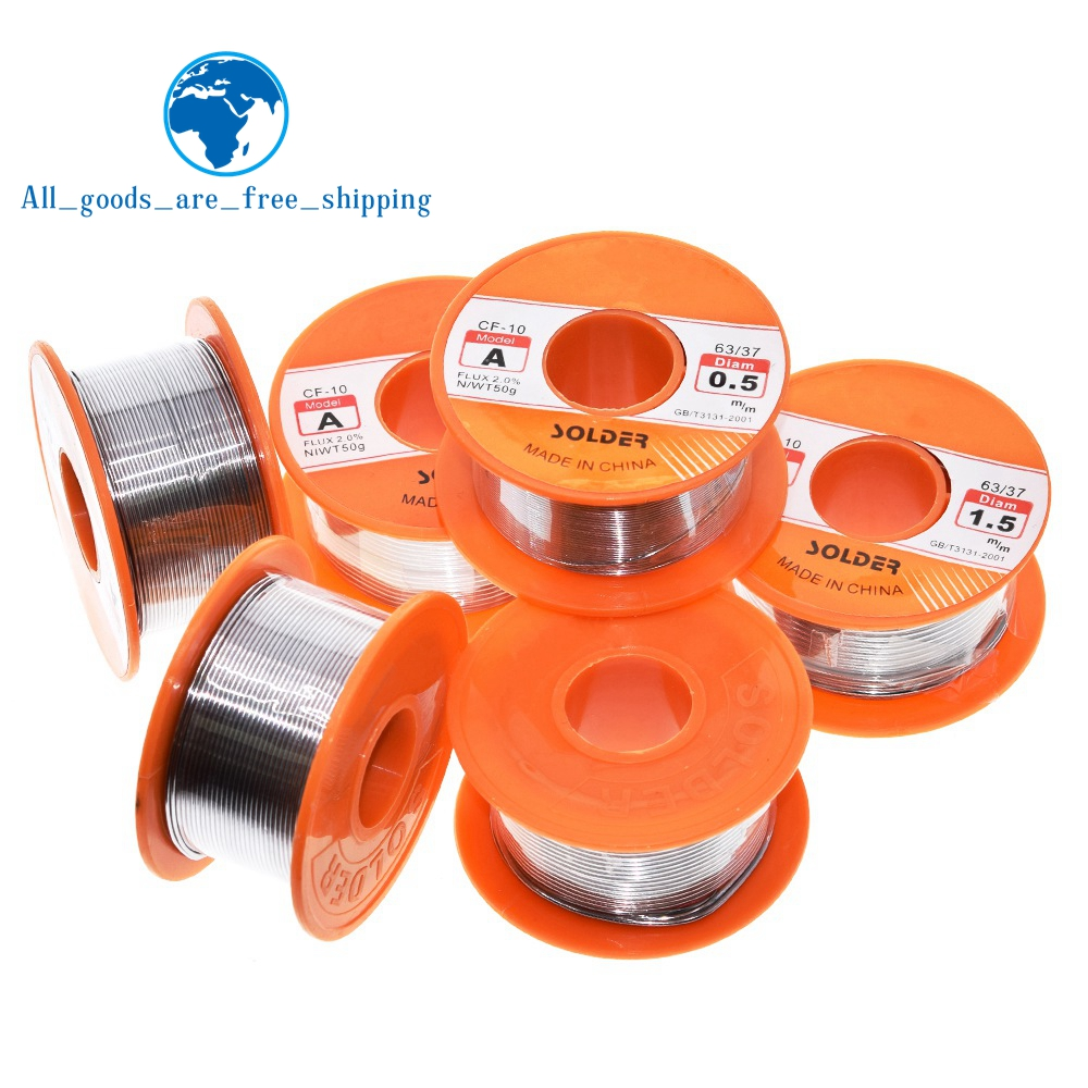 TZT 0.6/0.8/1/1.2/1.5MM 63/37 FLUX 2.0EFT Tin Lead Tin Wire Melt Rosin Core Solder Soldering Wire Roll For diy|Integrated Circuits|   - AliExpress
