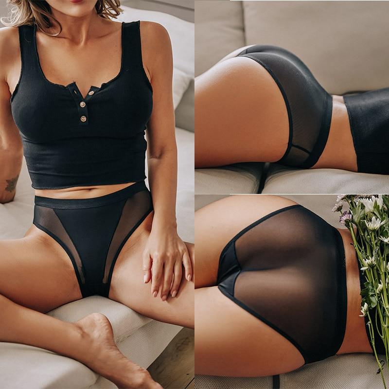 3 pz/set mutandine da donna Lingerie Sexy senza soluzione di continuità intimo femminile mutande trasparenti mutandine da donna slip ragazze mutandine intime 2