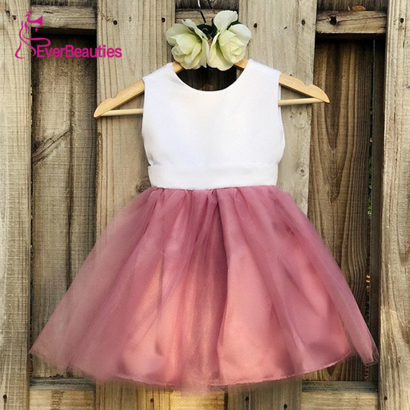 Vintage   Flower     Girl     Dresses   For Weddings Comunion 2019   Flower     Dress   Vestidos De Bowknot Primera Comunion Tulle Custom Made
