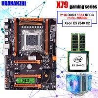 Ensamblado de ordenador HUANANZHI deluxe X79 LGA2011 de placa base CPU Xeon E5 2640 C2 RAM 32G (2*16G) DDR3 1333MHz RECC gaming motherboard motherboard cpu xeon e5 2640 -