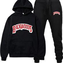 Fleece Hoodie Pant Tracksuit Sportswear Backwoods Warm Thick Male Men's Fashion-Brand