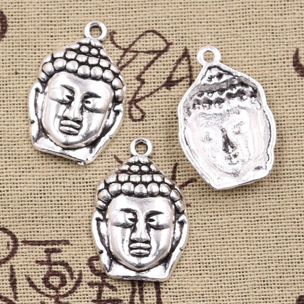 12 шт. Подвески Tathagata, медитация, Будда 28x20 мм, антикварные бриллиантовые Подвески «сделай сам», фурнитура для изготовления тибетских ювелирн...