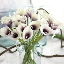 Искусственный цветок поддельные Калла лилии украшения яркие для свадьбы дома вечерние K888