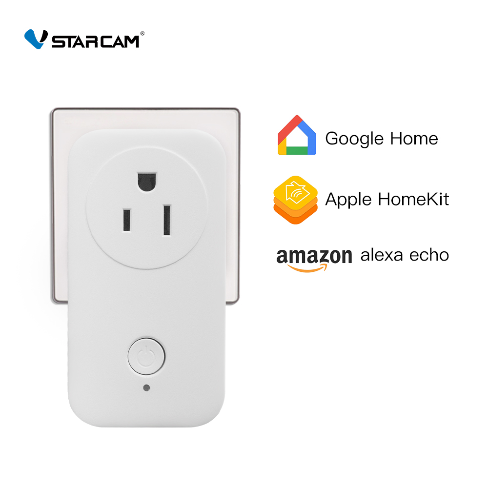 Vstarcam Smart Plug Outlet Smart Wifi Socket Work With Amazon Alexa Echo Google Home Apple HomeKit Remote Control On/off