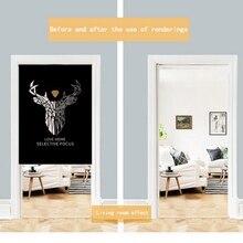 Deer Design Japanese Noren Doorway Curtain Wall Hanging Tapestry Screens For Advertising Space design for space