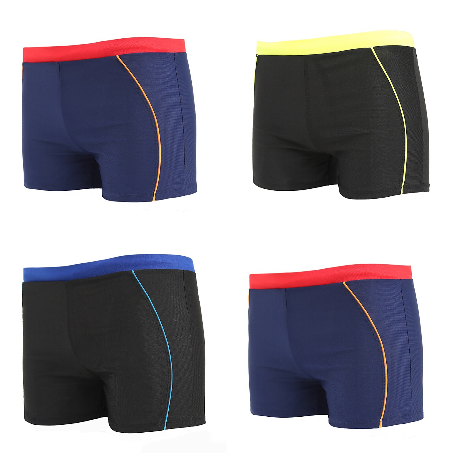 Trend MEN'S Swimming Trunks Fashion & Sports Students Boxers Game Training Elasticity Swimming Trunks Men's