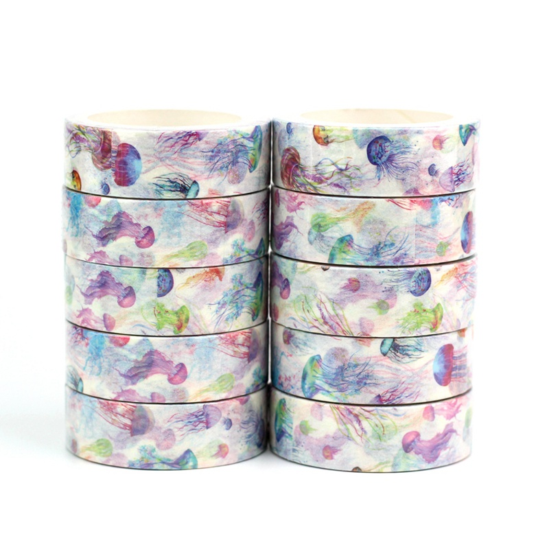 Cute Decorativa Jellyfish Washi Tapes Japanese Paper Kawaii Scrapbooking Tools Masking Tape Christmas Photo Album Diy Stationery