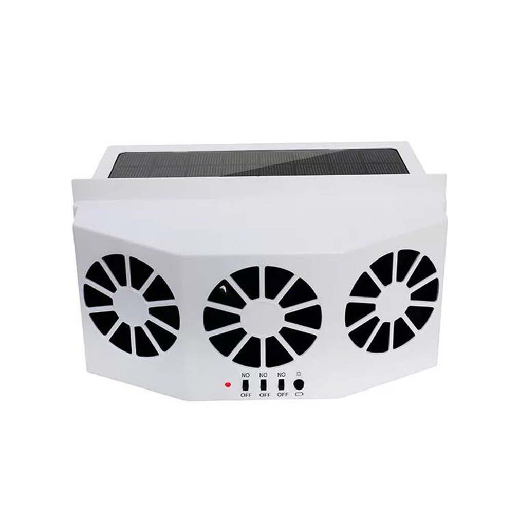 3 Cooler Car Fan Solar Energy Cooling Vent Exhaust Portable Safe Auto Car Gills Cooler Auto Ventilation High-power Fan