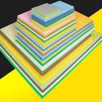 3 größe 11 farben Klassische Basis Platten Bricks Kompatibel LegoINGlys Stadt Grundplatte figuren DIY Bausteine Spielzeug Für Kinder