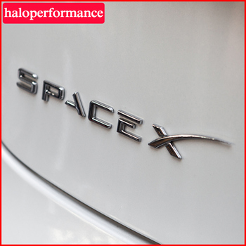 Space X Sticker For Tesla Model 3 Tail Letter Label Model Y Model3 Accessories For Tesla Model S model three Letter Stickers