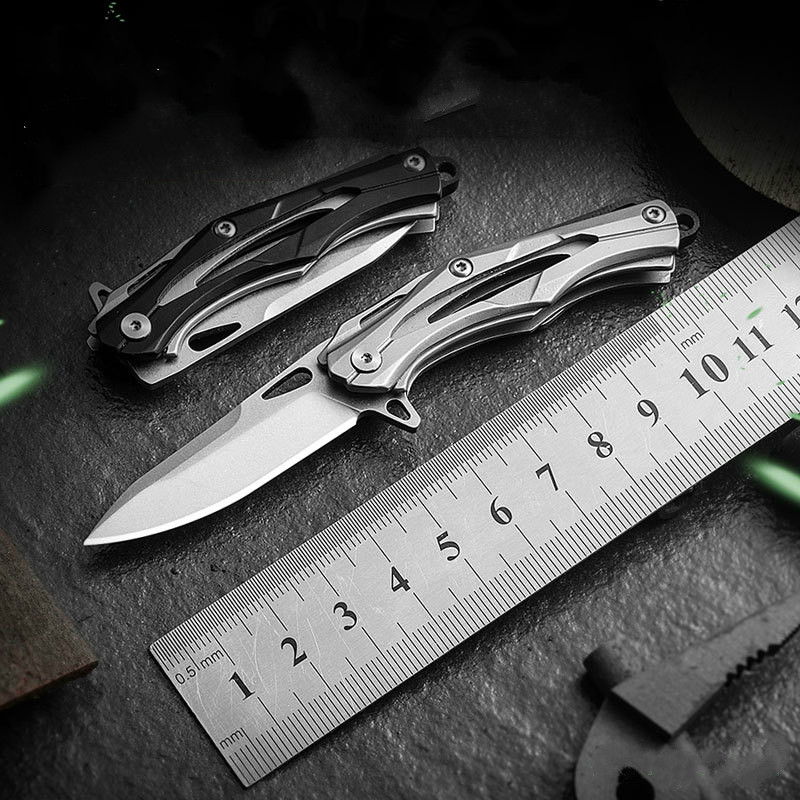New Mini Knife Foldable Keychain Pocket Knife Survival D2 Outdoor Hunting Knives Hand Tool Multifunctional Kitchen Accessories