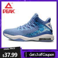 PEAK-zapatillas de baloncesto con cojín de aire para hombre, botas de rebote para exteriores, antideslizantes, transpirables, calzado de entrenamiento de gimnasia superior