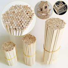 50 sztuk okrągły drewniany patyczek do rzemiosła żywności lizaki lodu i Model robienia ciasta kołki rozporowe dla DIY sztuka jedzenie przydatne drewna dla domu DIY