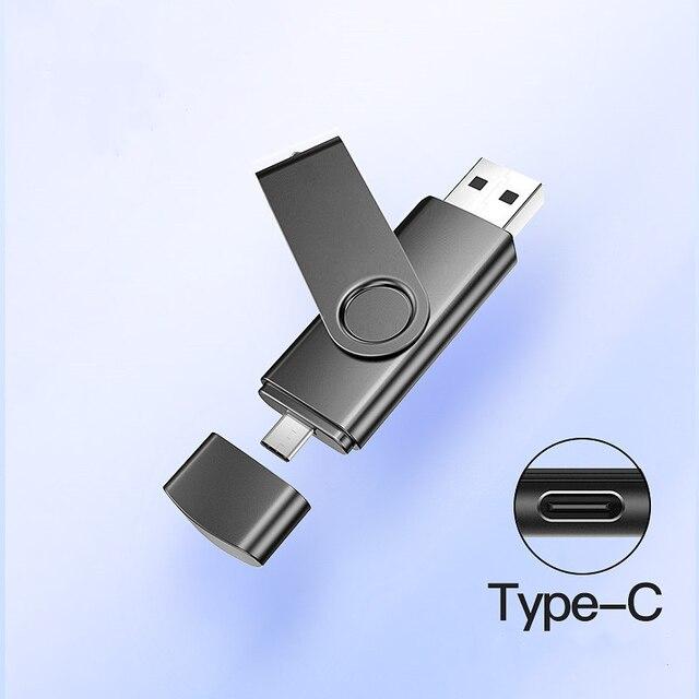 2 in 1 typec usb flash 4GB 16GB 32GB 64GB 128gb  Usb Flash Drive memory stick Pendrive usb flash drive for  type c charge phone