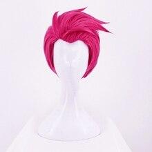 Аниме Overwatch Zarya Розовый Косплей короткий парик термостойкий синтетический парик+ парик Кепка