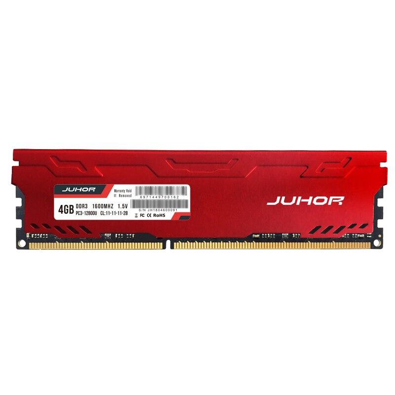 JUHOR Memoria Ram DDR3 8GB 1600MHz 1333MHz 1866MHz 4GB Desktop Memory Ram New dimm DDR3 RAMs with Heat sink