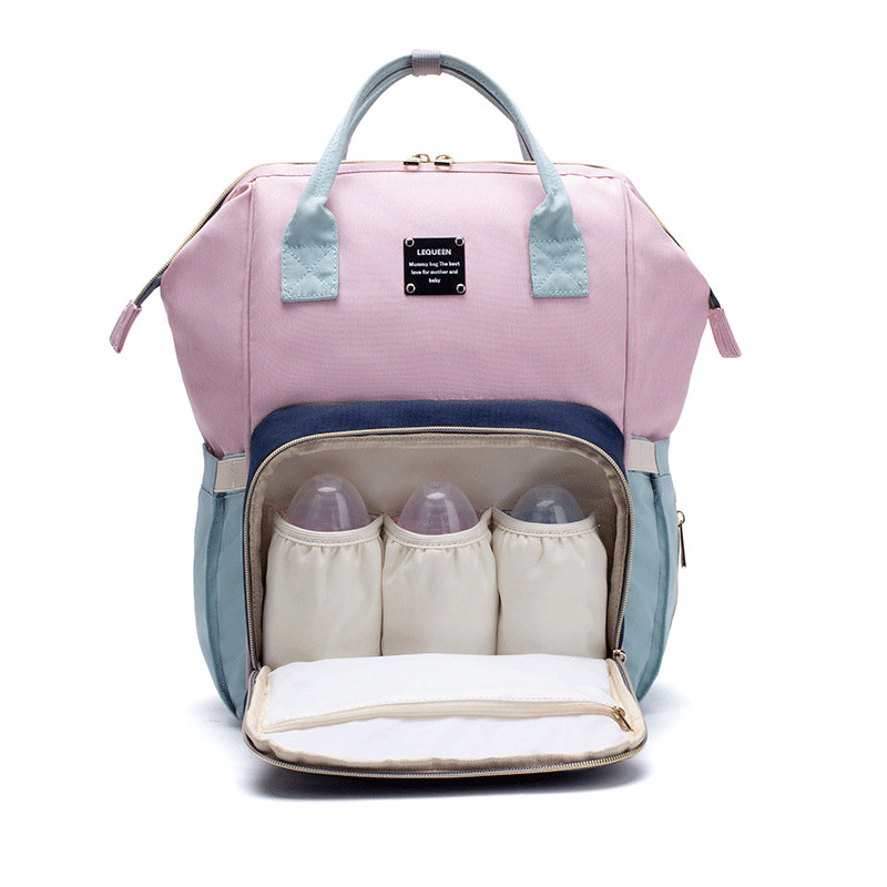 Image 3 - LEQUEEN Diaper Bag Baby Care Mummy Maternity Bag Large Storage Travel Waterproof Antifouling Backpack Stroller Bag Nappy Bag-in Diaper Bags from Mother & Kids