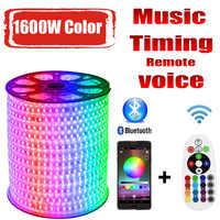 LED Streifen 220v RG 1600W Farben 5050 RGB Im Freien Wasserdichte 220 V 10M 20M 100M 200M fernbedienung LED Streifen RGB