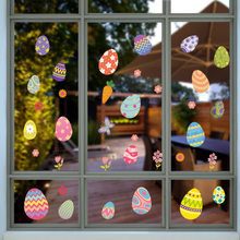 2021 украшение пасхальные яйца Наклейка на стену, наклейка на окно витрины торгового центра, наклейка на окно