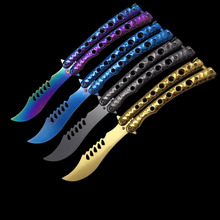 Practice Knife For Training Blade Stainless Steel Csgo Butterfly Knife For Hunting Camping Tactical