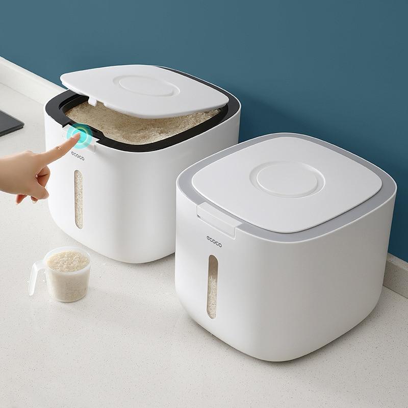 10 кг кухонная коллекция нано ведро защита от насекомых влагостойкая герметичная рисовая цилиндрическая зернистая Собачья еда Бытовая коробка для хранения риса|Бутылки, банки и коробки|   | АлиЭкспресс