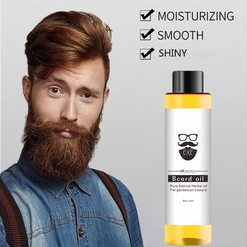 30ml naturalny organiczny olej do brody wygładzający odżywianie wąsy broda twarzy włosy rosną olejek mężczyzn pielęgnacja brody produkty TSLM2 tanie i dobre opinie CN (pochodzenie) 1pcs Beard Oil Beard care oil dropshipping