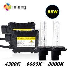 Inlong 35W 55W 12V Xenon Light Bulb Car Headlight H1 H3 H7  H11 9005 9006 4300k 6000k 8000k HID Slim Ballast Xenon Headlamp Kit