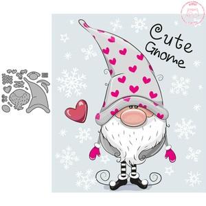 Бумажные матрицы для скрапбукинга с изображением любящего карлика для изготовления карт рождественские трафареты эльфа для скрапбукинга ...