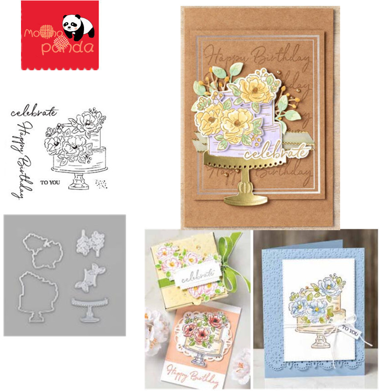 MP084 HAPPY BIRTHDAY Metal Cutting Dies And Stamps Stencils For DIY Scrapbooking Paper Cards Embossing Dies