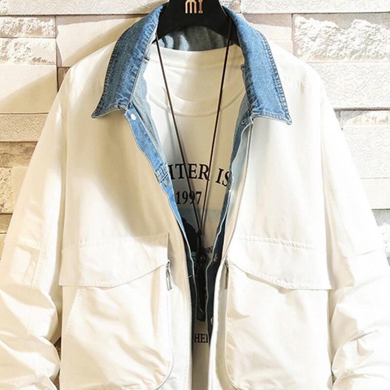 Клетчатая уличная зимняя куртка цвета хаки для мужчин 2019 теплая уличная однотонная Повседневная куртка корейский стиль модное мужское пал... - 5