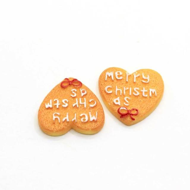 10/50 sztuk boże narodzenie nowy przyjazd mieszkanie powrót żywica Cookie Snowman Gingerman dom buta drzewa kształty Kawaii Charms dla DIY