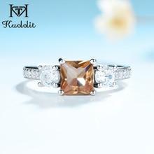 Kuololit Diaspore Zultaniteแหวนพลอยสำหรับสตรี 925 เงินสเตอร์ลิงเครื่องประดับครึ่งขนาดแหวนสำหรับงานแต่งงานเครื่องประดับ