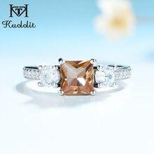 Kuololit Diaspore zultanit kamień pierścień dla kobiet solidna 925 Sterling Silver biżuteria pół rozmiaru pierścień dla mała biżuteria ślubna