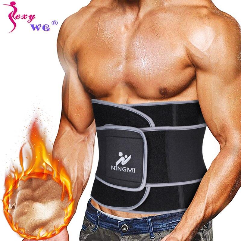 SEXYWG Men Waist Supports Trainer Slim Body Shaper Sports Top Waist Cinchers Neoprene Sauna Strap Corset Slimming Shapewear Belt
