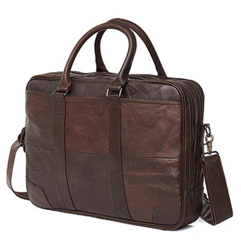 JOYIR Business Retro Men's Briefcase Genuine Leather Handbag Laptop Bag for Men Crossbody Shoulder Bags Business Messenger Bags