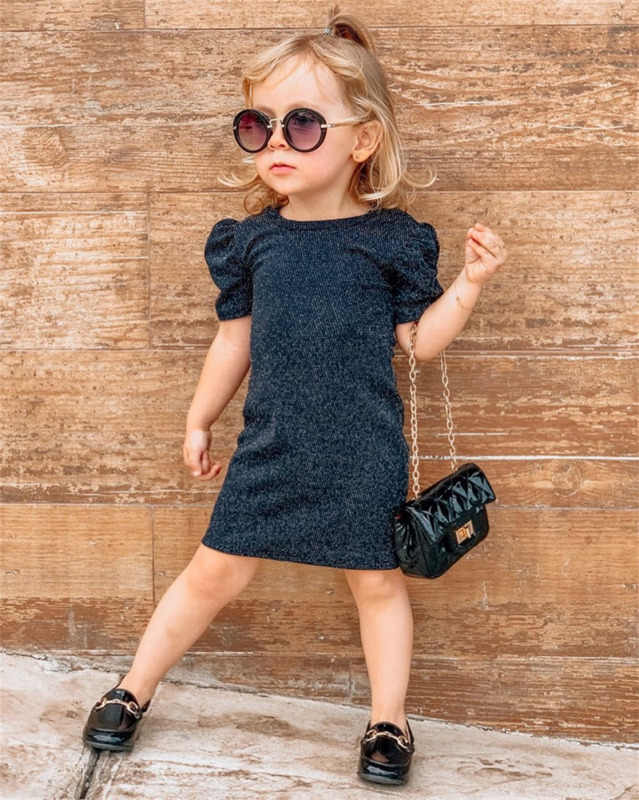 Summer Toddler Kids Baby Girls Bodycon Dress Knoitted Casual Party Clothes Sets