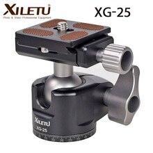XILETU XG 25 panoramik Video Tripod döngüsü kafa 360 ° hızlı bırakma top kafa monte alüminyum alaşımlı topu kafa ile 1/4 vida