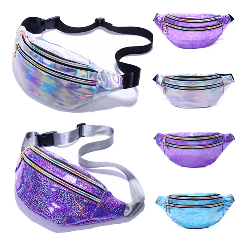 New Fashion Women's Girl Travel Waist Holiday Money Belt Wallet Glitter Bum Bag Pouch Chest Bags Sport Waist Bags