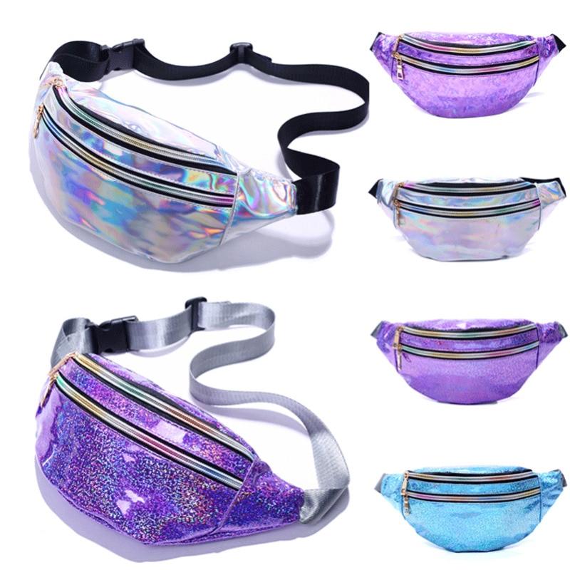 New Fashion Women's Girl Travel Waist Holiday Money Belt Wallet Glitter Bum Bag Pouch Chest Bags Sport Waist Bags