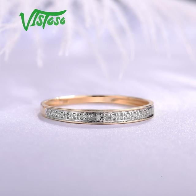 Yellow Gold Sparkling Diamond Minimalistic Ring 4