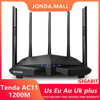 Tenda AC11 1200Mbps Wireless Wifi Router Dual band 2,4G/5G 1 WAN + 3 LAN Gigabit ports 5*6 dbi Antenne 802.11AC 1GHz CPU 128 DDR3