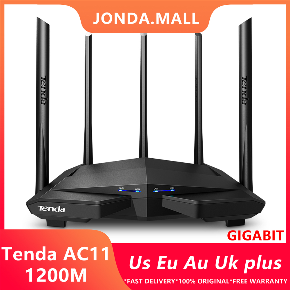 Tenda AC11 1200Mbps Wireless Wifi Router Dual band 2.4G/5G 1 WAN+3 LAN Gigabit Ports 5*6 dbi Antenna 802.11AC 1GHz CPU 128 DDR3(China)
