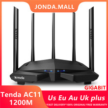 Tenda AC11 1200Mbps Draadloze Wifi Router Dual Band 2.4G/5G 1 Wan + 3 Lan Gigabit poorten 5*6 Dbi Antenne 802.11AC 1 Ghz Cpu 128 DDR3(China)