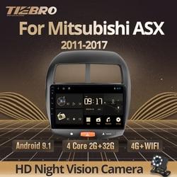 TIEBRO 2DIN Android 9.0 Car Radio For Mitsubishi ASX 2010-2017 Citroen C4 Peugeot 4008 Car DVD GPS Navigation Multimedia Player