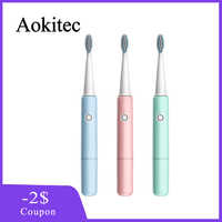 Electric Toothbrush Sonic Wave Rechargeable Toothbrush Automatic Teeth Whitening bamboo Tooth Brush with 3 Brush Head FZB3149-3