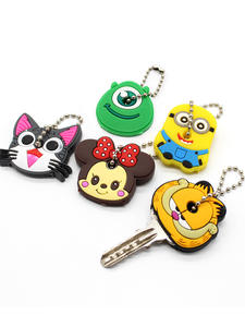 Lovely Cartoon Silicone Protective Key Case Cover For Key Control Dust Cover Holder Animation Figures key Pendant Key Holder
