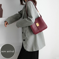2019 wide strap flap bags split leather shoulder bag for female solid high quality crossbody bags simple cowhide bag for women