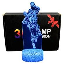 Yeni 3D illusion Led lamba Apex Legends Pathfinder aksiyon figürü gece lambası çocuklar için koruyucu mevcut APEX oyuncaklar oyuncular için