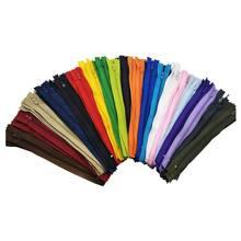 Naylon flaş fermuarlı toplu zanaat dikiş terzi (20 renk) (çok 120 adet, 22 cm)